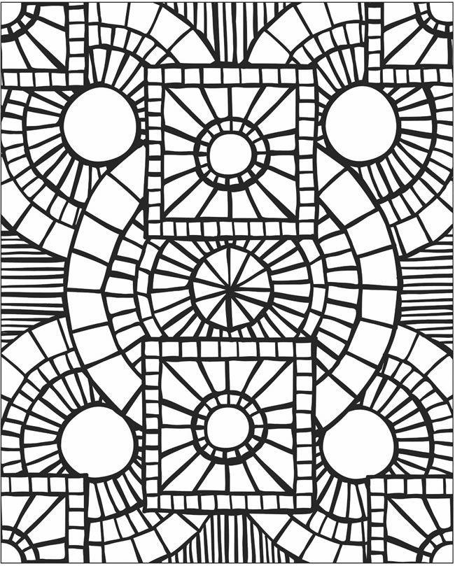 mosaic patterns printable mosaic patterns coloring pages