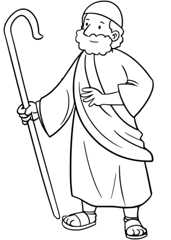 moses coloring page free printable coloring pages