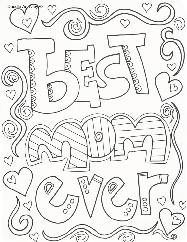 mothers day coloring pages doodle art alley
