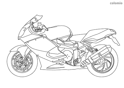 motorcycles coloring pages free printable motorcycle