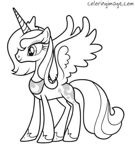 my little pony coloring page princess luna malvorlagen