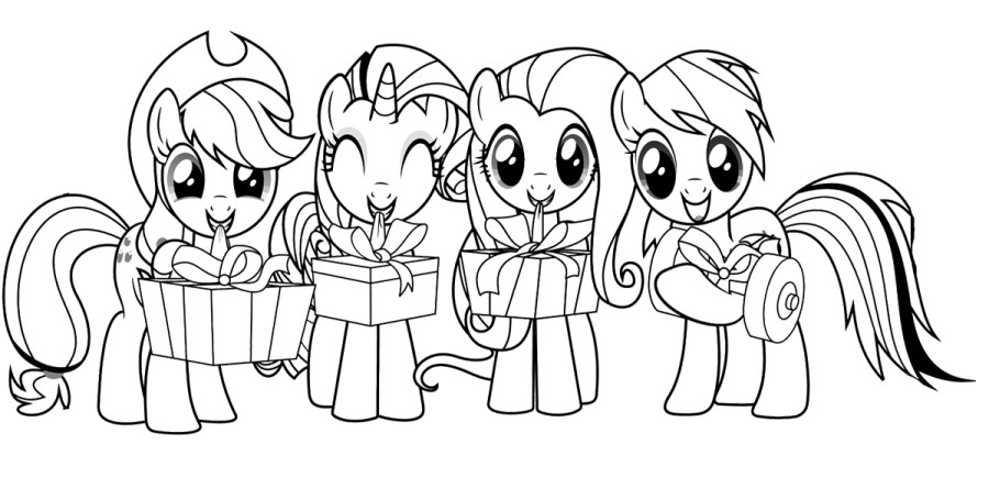 my little pony coloring pages a4
