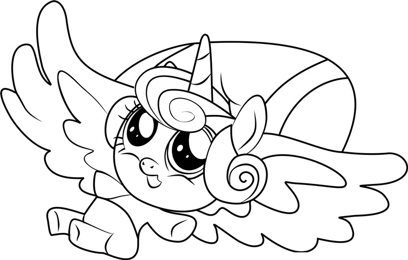 my little pony heart coloring pages