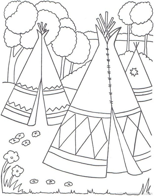 native americans free printable coloring pages