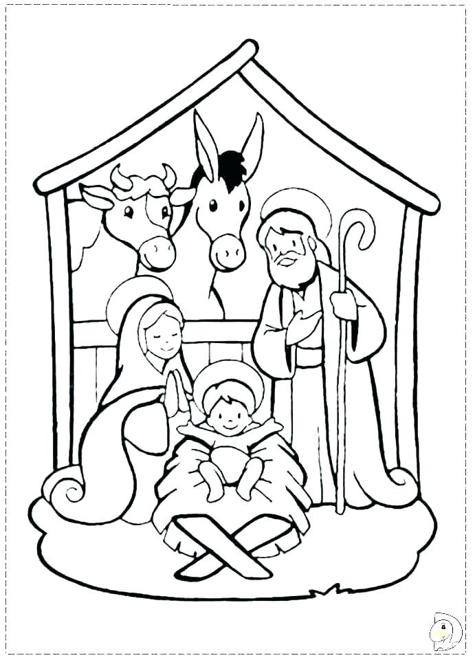 nativity coloring page uwcoalition