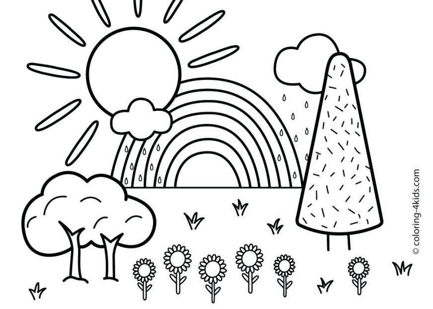nature coloring pages scenery colouring for adults wircoclub