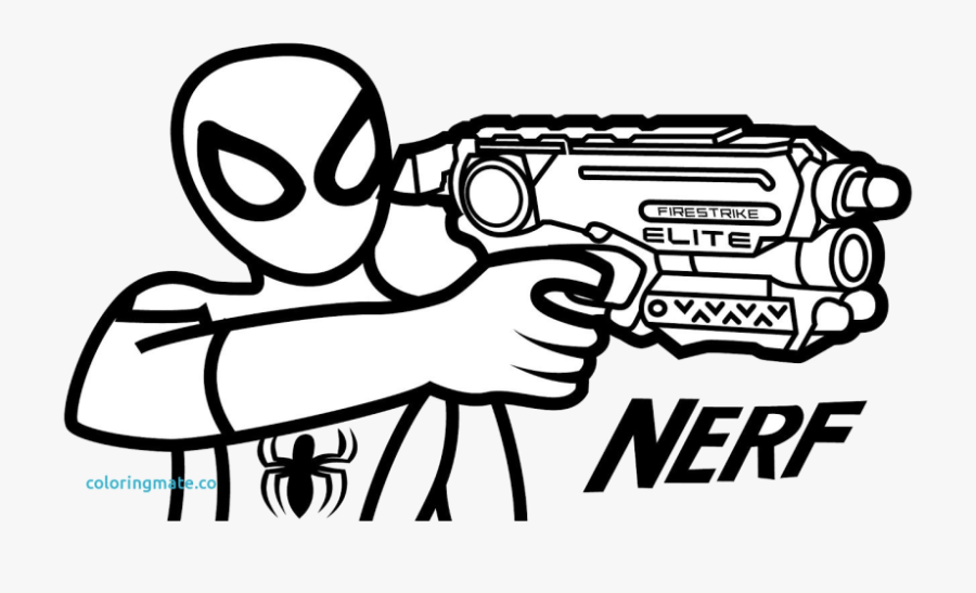 nerf guns free printable coloring pages transparent