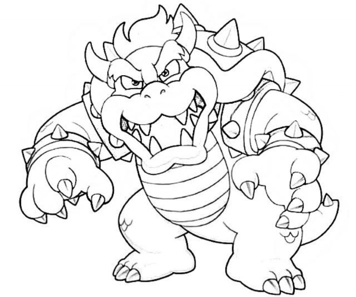 new coloring pages bowser page super mario at getdrawings