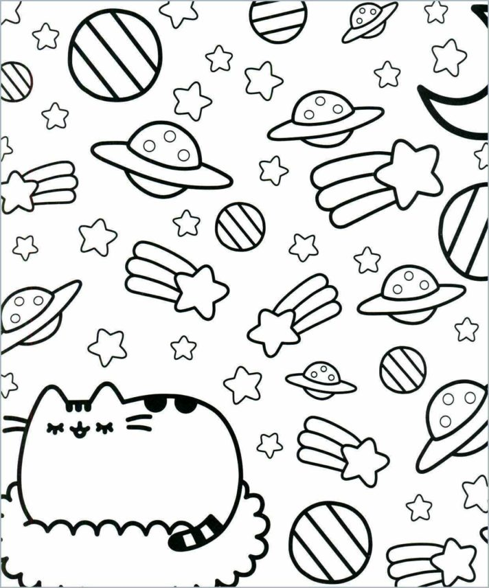 new coloring pages pusheen cat to color free printables