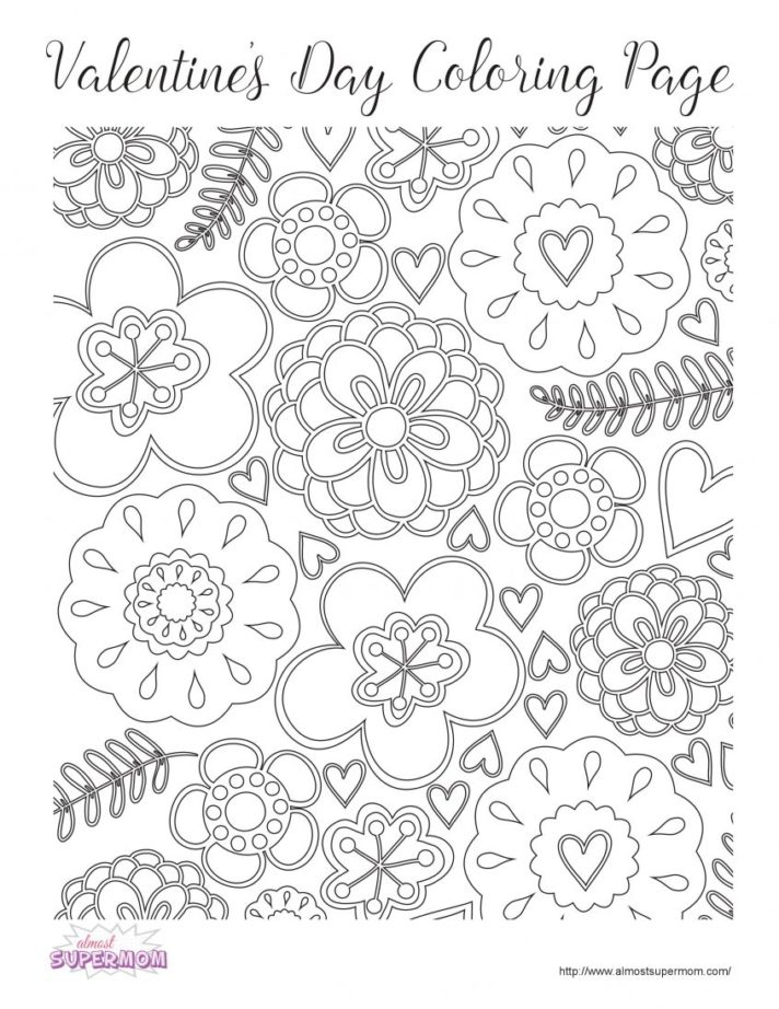 new coloring pages valentines day for girls valentine