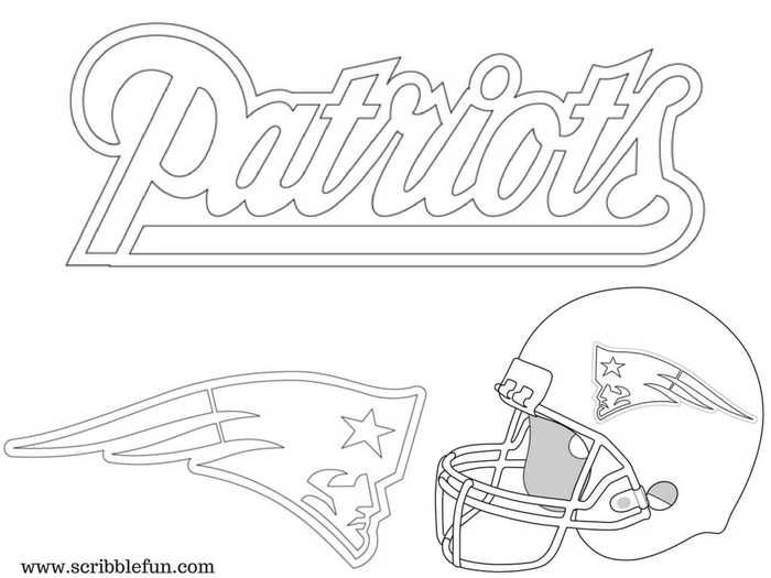 new england patriots coloring pages printable coloring