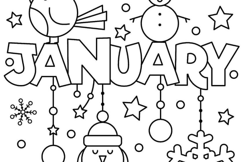 new year january coloring pages printable fun to help