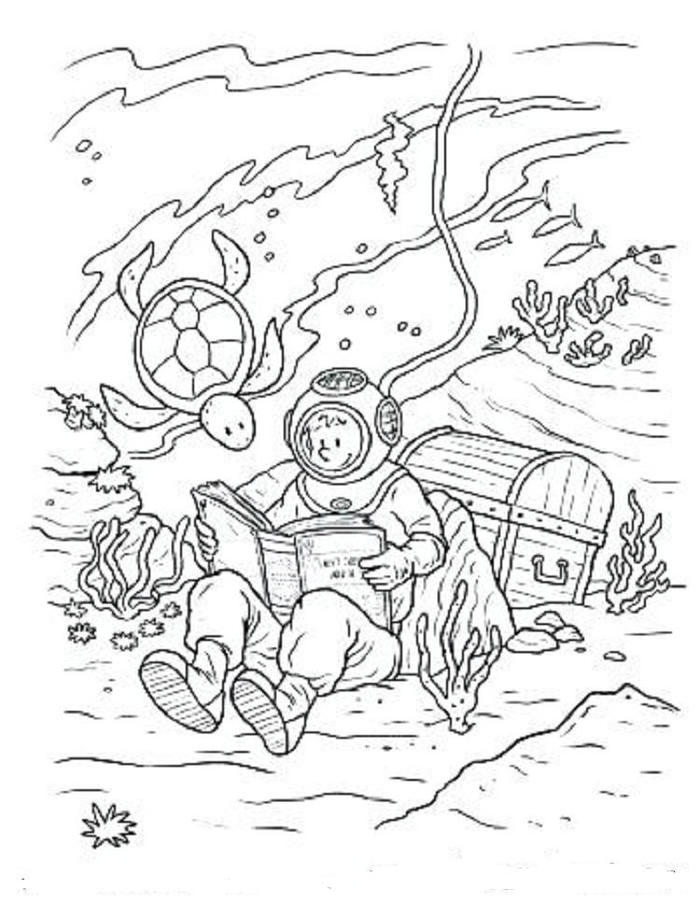 nice underwater coloring pages fun for kids