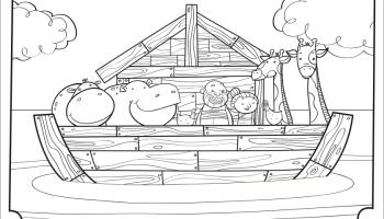 Noah Coloring Pages - GetColoringPages.com | 200x350