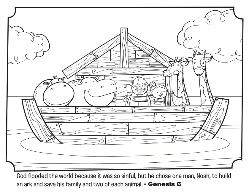 noahs ark bible coloring pages whats in the bible