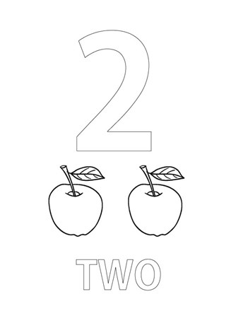 numbers coloring page number two coloring page all kids