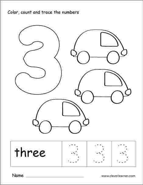 numbers coloring pages worksheet number coloring pages only