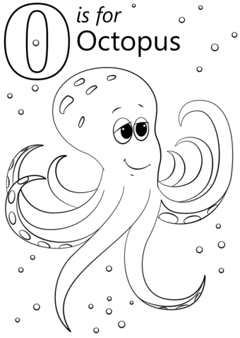 o is for octopus coloring page free printable coloring pages