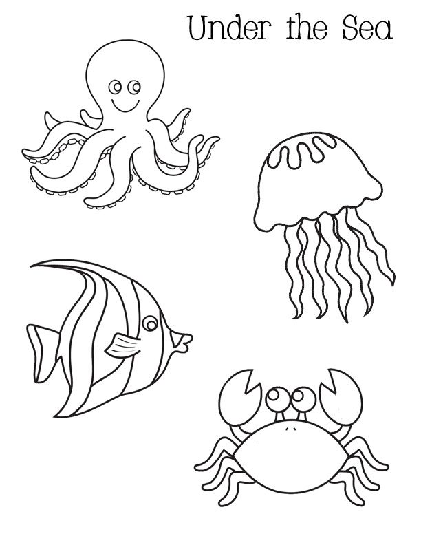 ocean activities free under the sea coloring pages perfect
