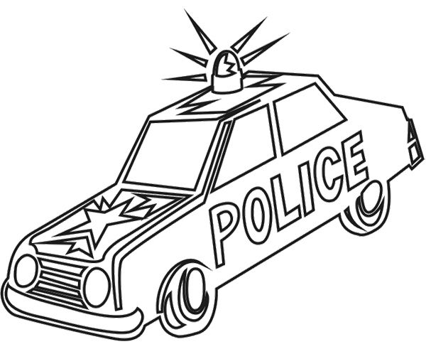 old car police coloring page cars coloring pages police