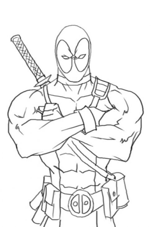 online deadpool coloring page free to print avengers