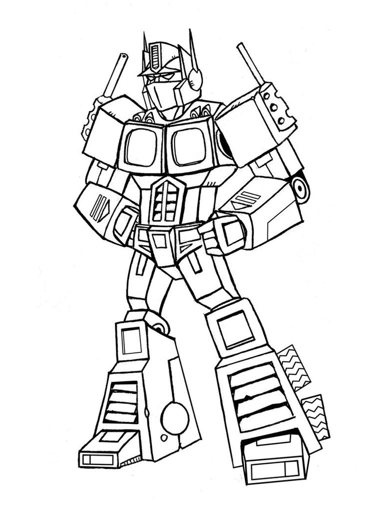 optimus prime coloring pages printable fun for kids