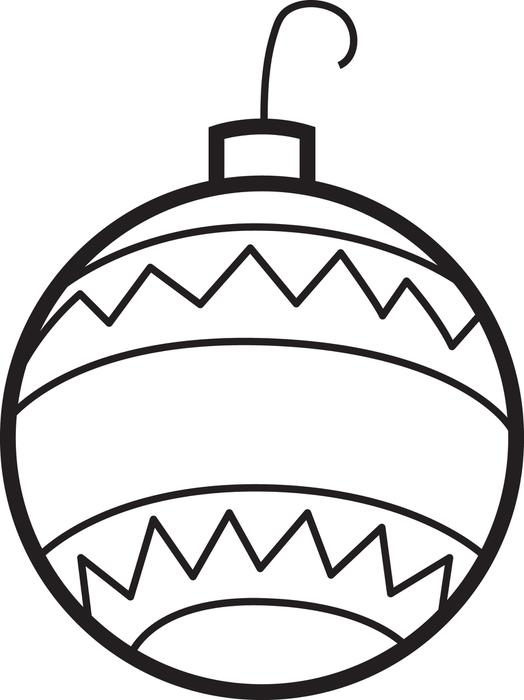 ornaments christmas coloring pages at getdrawings free