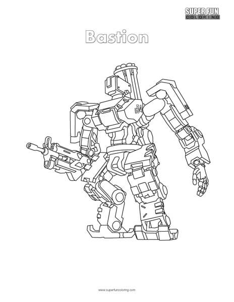overwatch bastion coloring page super fun coloring