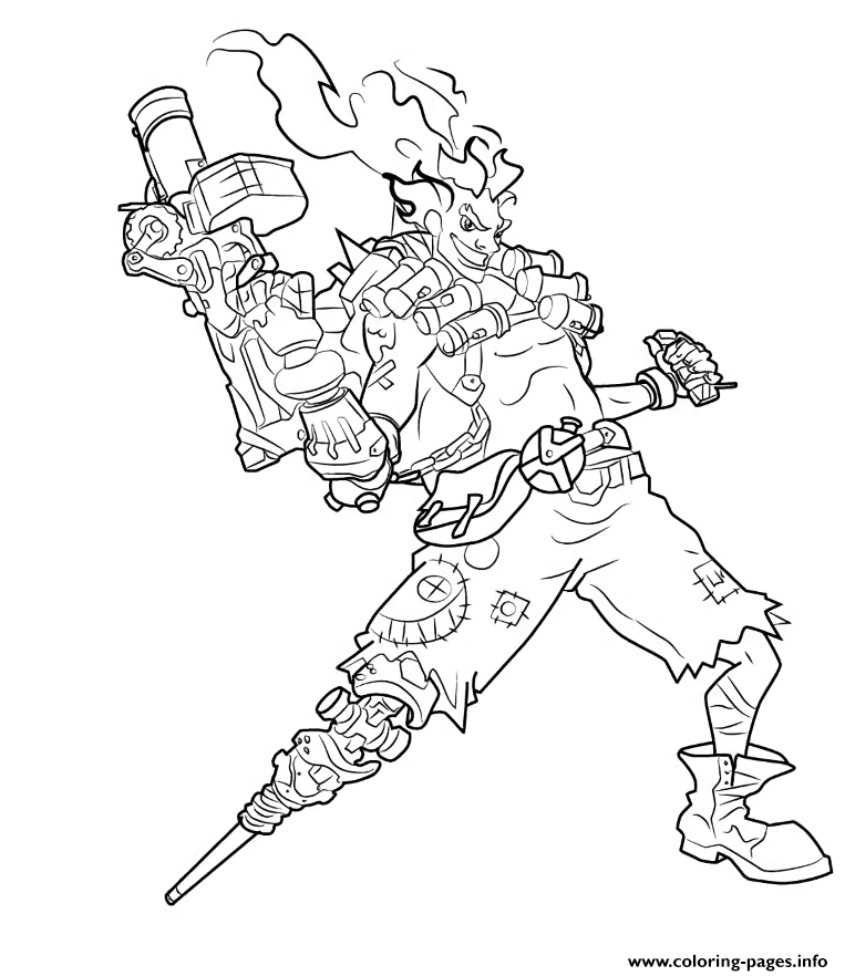 overwatch junkrat coloring pages printable
