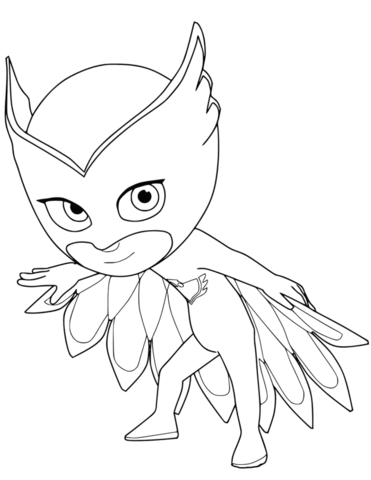 owlette from pj masks free printable coloring pages
