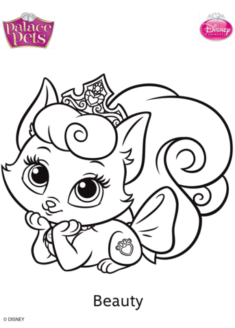 palace pets beauty coloring page free printable coloring pages