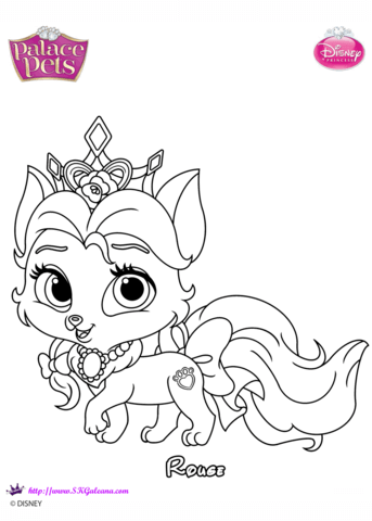 palace pets rouge coloring page free printable coloring pages