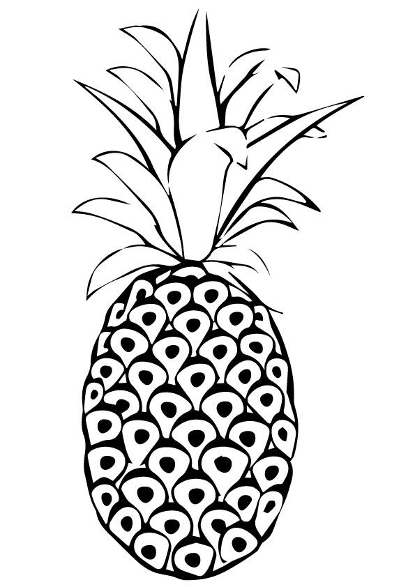 parentune free printable pineapple coloring pages