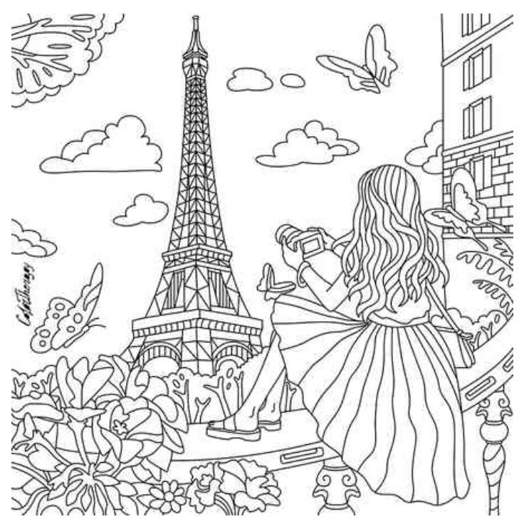 Paris Coloring Pages Pictures - Whitesbelfast