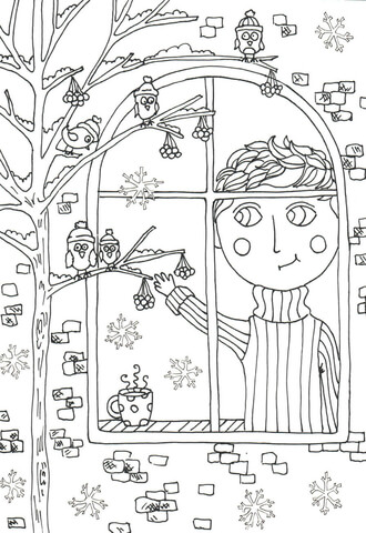 peter boy in november coloring page free printable
