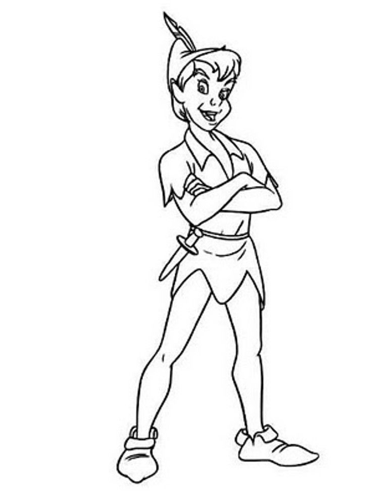 peter pan outline peter pan coloring pages disney