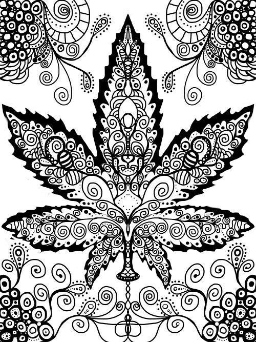 Weed Coloring Pages Ideas - Whitesbelfast