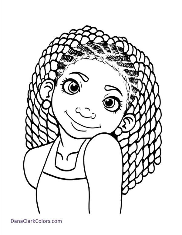 pin rj avery on coloring book drawings of black girls