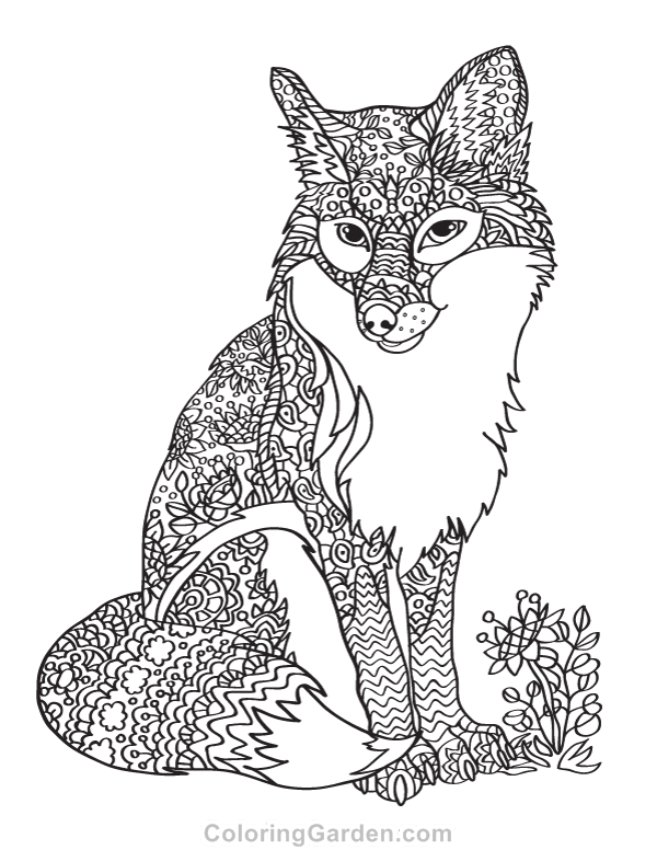 pin vivian m on my coloring haven v fox coloring page