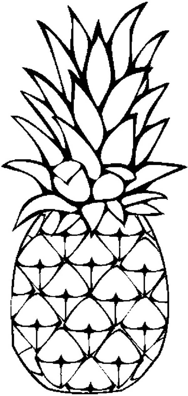 pineapple coloring page sweet caribbean pineapple coloring