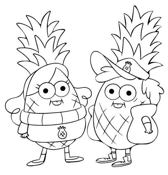 pineapples gravity falls coloring page see the category to