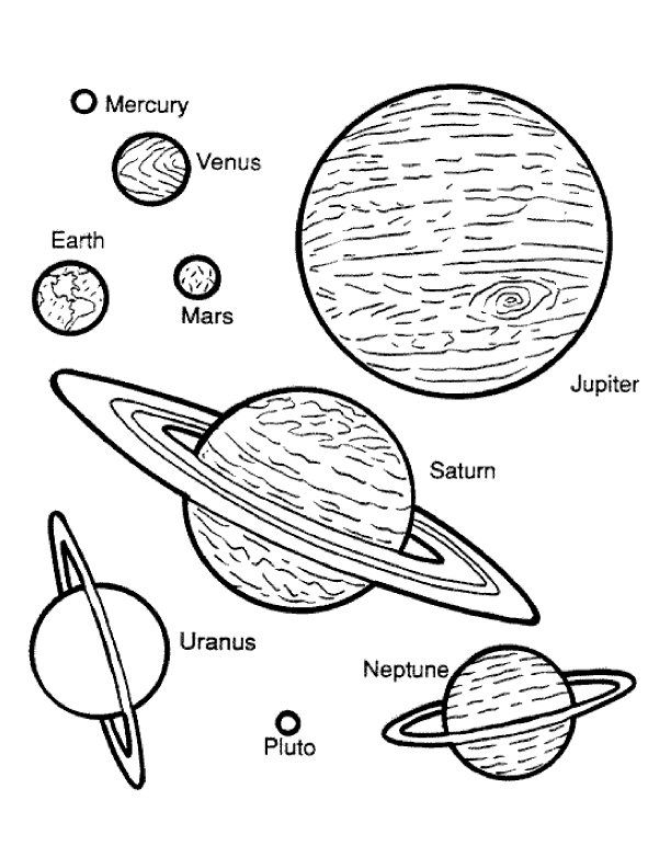 planet color sheet planets coloring page projekt