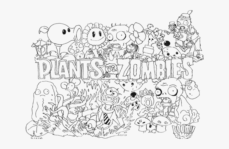 plants vs zombies coloring pages for kids plants vs