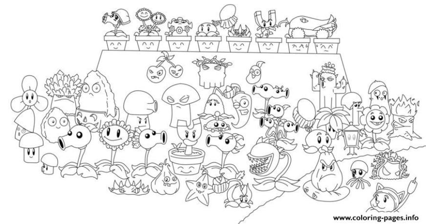 plants zombies coloring pages chomper pvz all line