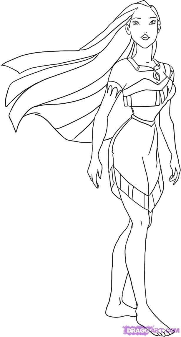 pocahontas coloring pages kids coloring page