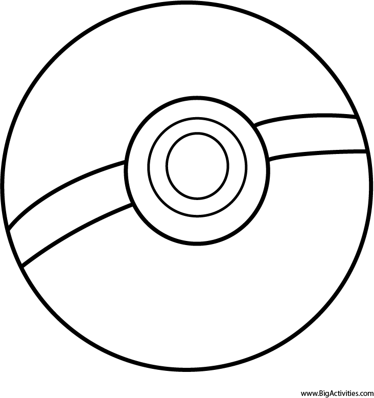 pokeball coloring page pokemon