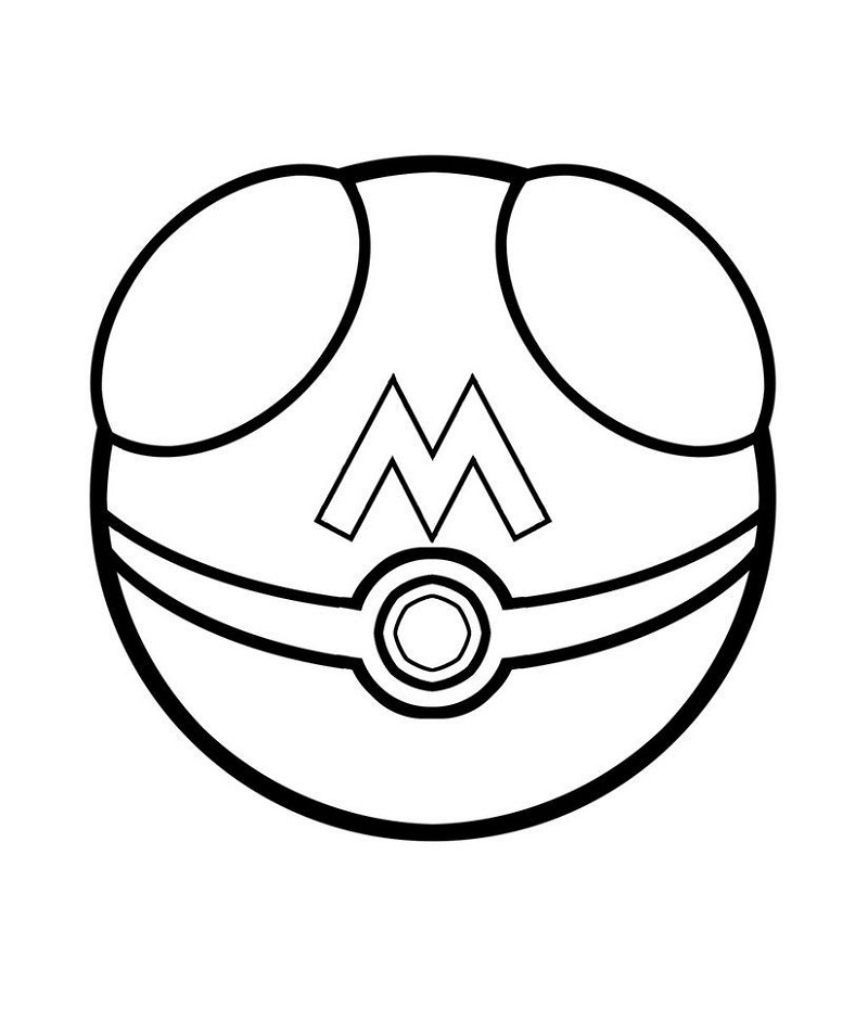 pokeball coloring pages printable shelter