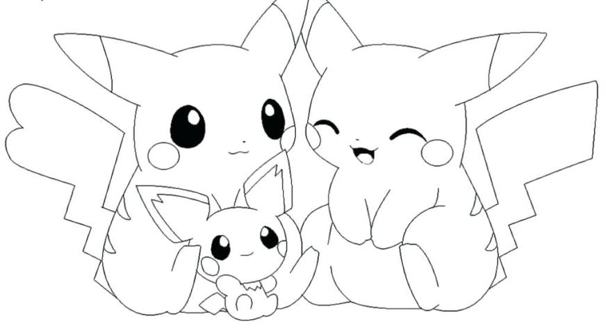 pokemon coloring pages pikachu cute at getdrawings
