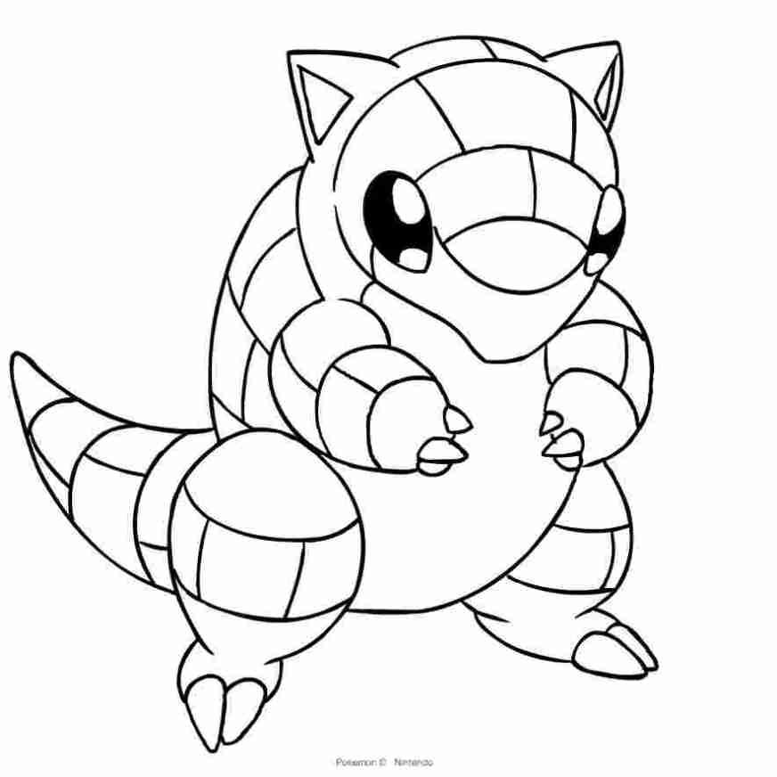 pokemon coloring pages sandshrew drawing alolan sandshrew of