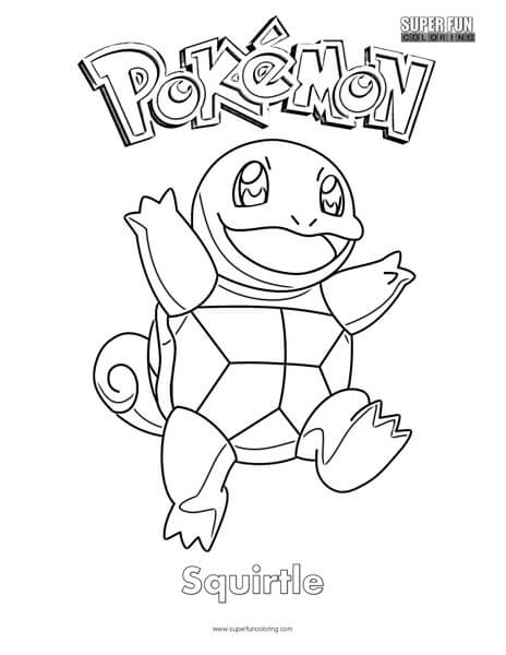 pokmon squirtle coloring page super fun coloring